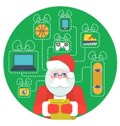 Santa claus with wishlist vector