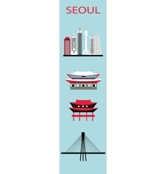 Set of seoul symbols vector