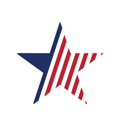 star stylized in american flag vector image