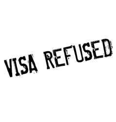 Visa refused rubber stamp vector