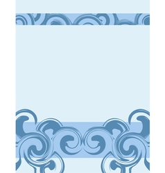Wavy blue background vector
