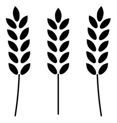 Wheat the black color icon vector