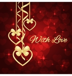 Wonderful valentines background vector
