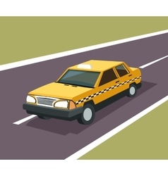 Taxi auto car design vector