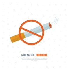 No smoking sign cigarette sign vector