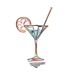 Cocktail menu card vector