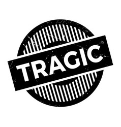 Tragic rubber stamp vector