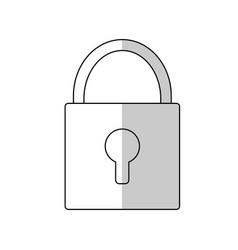 padlock icon image vector image