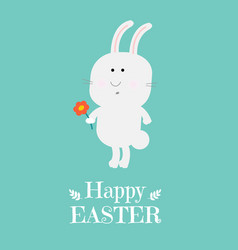 Happy easter card with rabbit vector