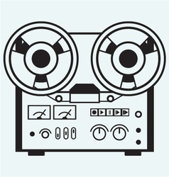 Reel tape recorder vector