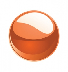 shiny sphere 02 orange vector image