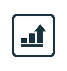 Business diagram chart icon rounded squares button vector