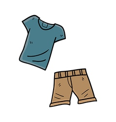Shirt with shorts hand drawn vector