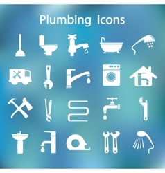 Icons set plumbing vector