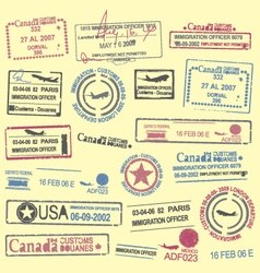 Passports stamps vector