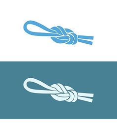 Fishing knot eight vector