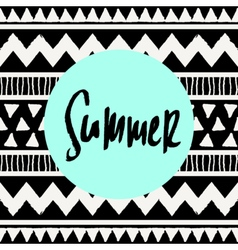 Summer tribal design vector