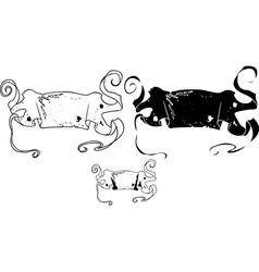 Banner stencil vector
