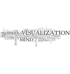 a simple and effective mind power technique text vector image