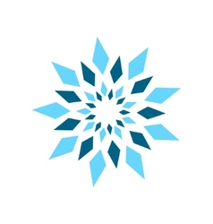 Abstract crystal sign vector