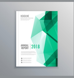 Abstract geometric green shapes business brochure vector