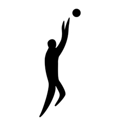 Athlete man basketball player silhouette vector