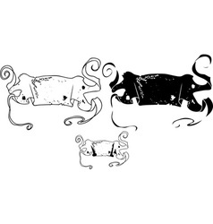 banner stencil vector image vector image
