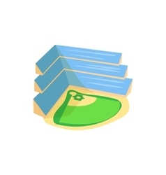 Baseball stadium icon cartoon style vector