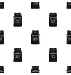 Basketball jerseybasketball single icon in black vector
