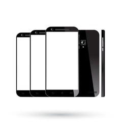 Black smartphones set vector image