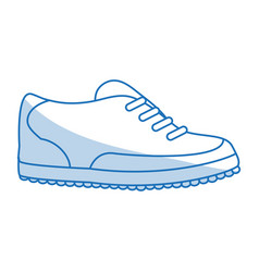 blue shading silhouette cartoon golf shoes port vector image