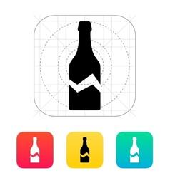 Broken bottle icon vector image