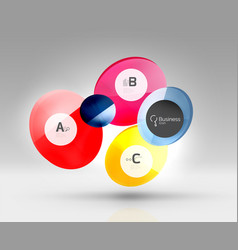 circle infographics vector image vector image