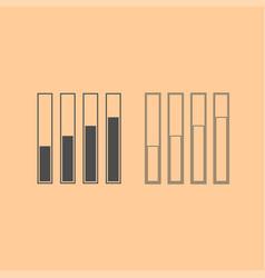 diagram growth dark grey set icon vector image