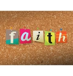 Faith Concept vector image vector image