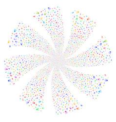 First satellite fireworks swirl flower vector