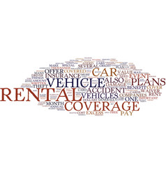 Free rental insurance text background word cloud vector