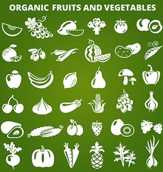 GreenFruitsVegetables vector image