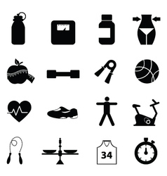 Health pictograms vector image vector image