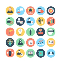 Human resources colored icons 3 vector