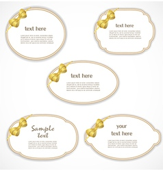 Labels with a bow vector image vector image