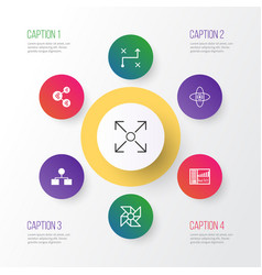 Learning icons set collection of laptop vector
