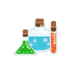Magic Potions In Test Tubes vector image vector image