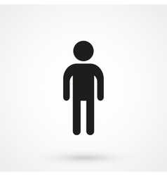 man icon black on white background vector image vector image