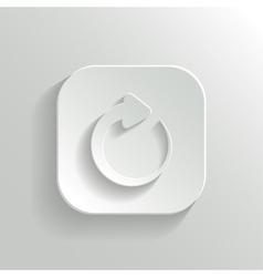 Media player icon - white app button vector