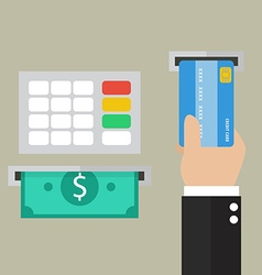Money deposit and withdrawal vector