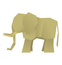 origami elephant icon cartoon style vector image vector image