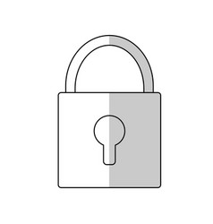 padlock icon image vector image