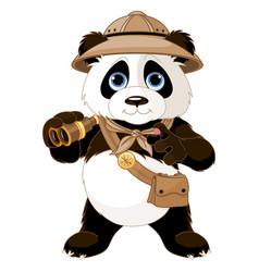 panda safari explorer vector image