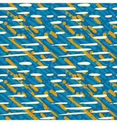 Pattern with random crossing brushstrokes vector